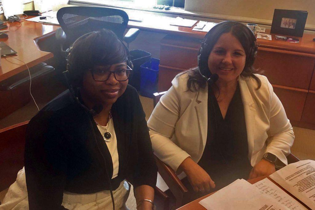 April Kates-Ellison and Christine Chico, ADA Client Services
